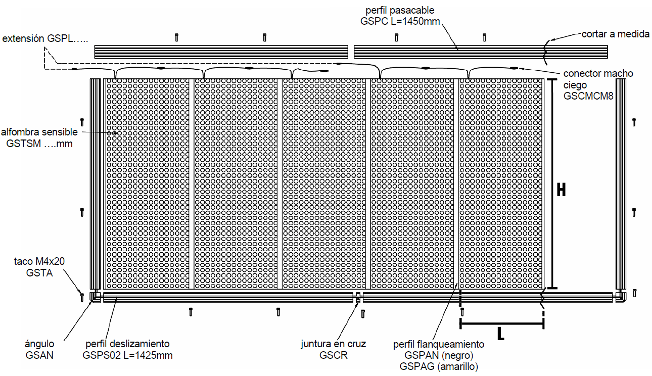 Composición de una alfombra modular