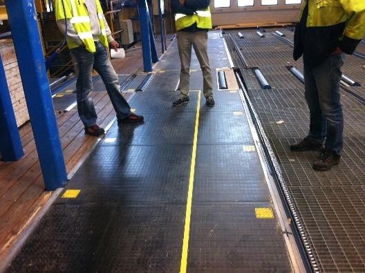 aplicación alfombra seguridad