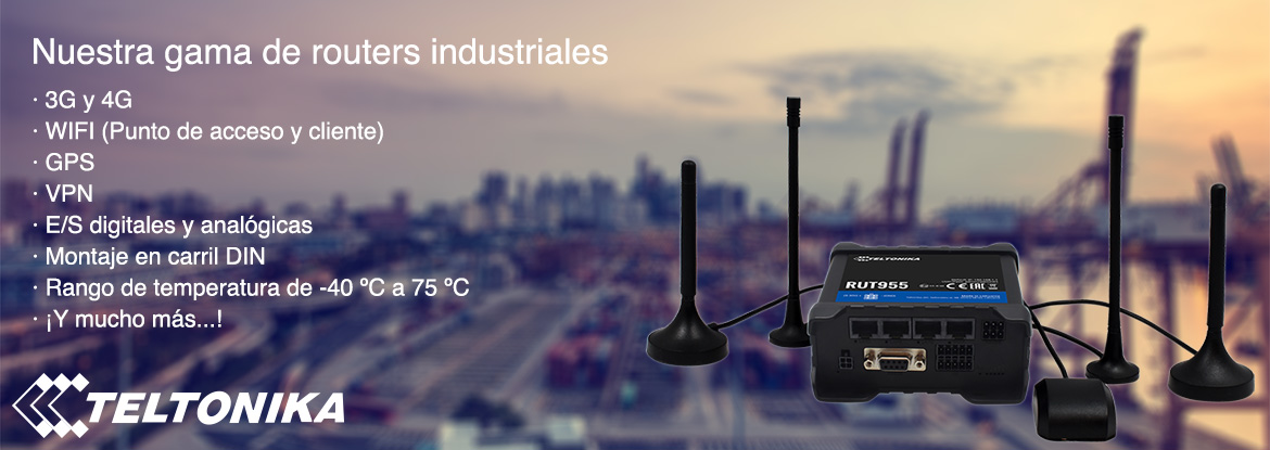 Gama routers industriales Teltonika