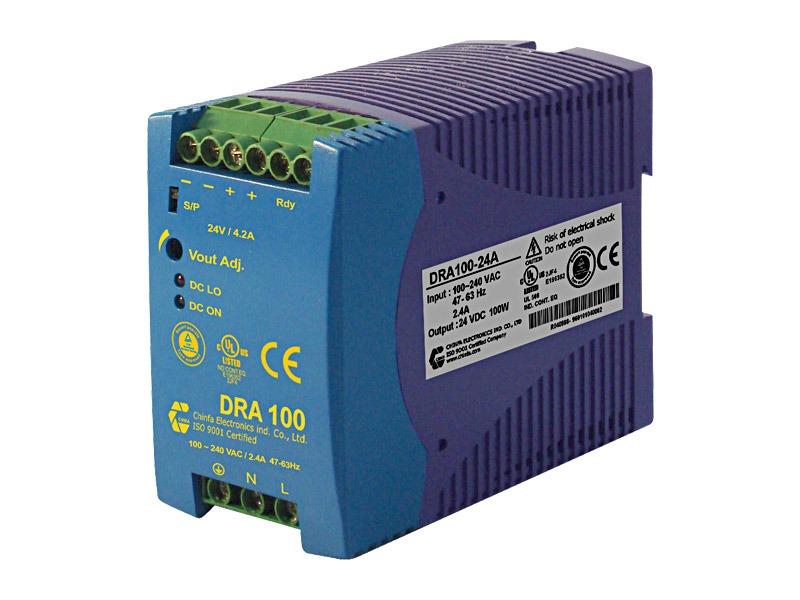 Monofásica para carril DIN Serie DRA 100 (100 W)