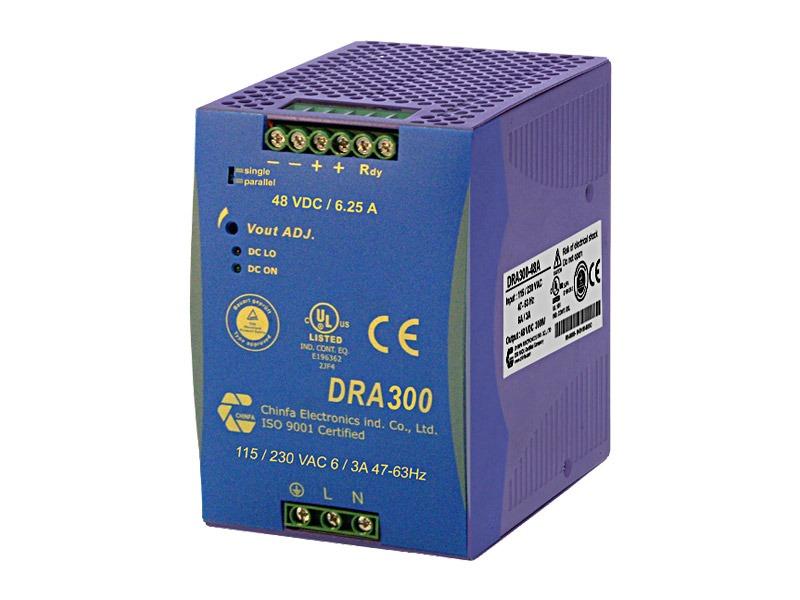 Monofásica para carril DIN Serie DRA 300 (300 W)