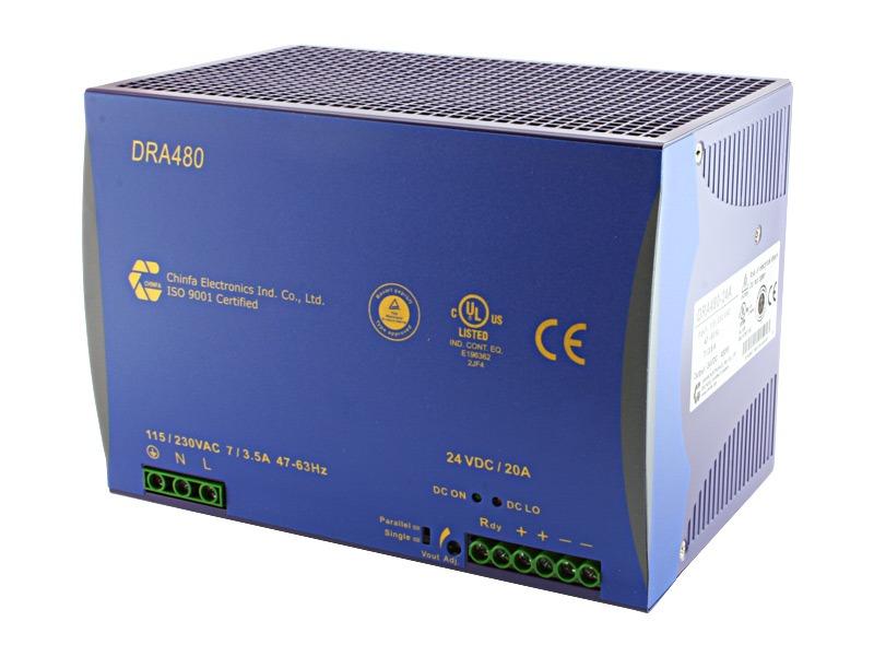 Monofásica para carril DIN Serie DRA 480 (480 W)