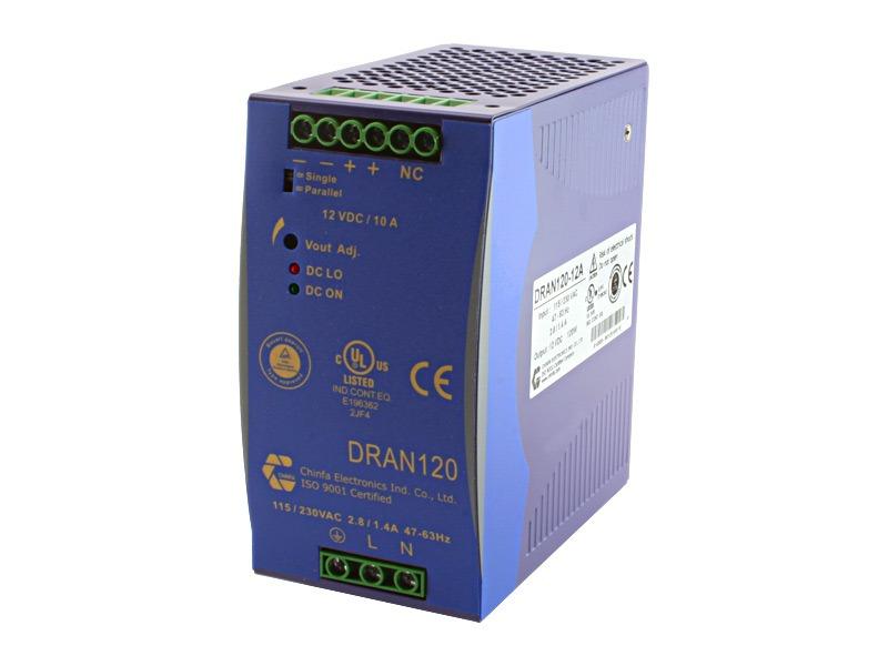Monofásica para carril DIN Serie DRAN 120 (120 W)