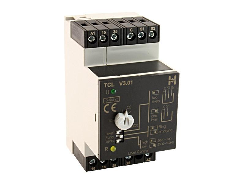 Relé de Nivel 1 ó 2 consignas, líquidos conductivos Serie TCL