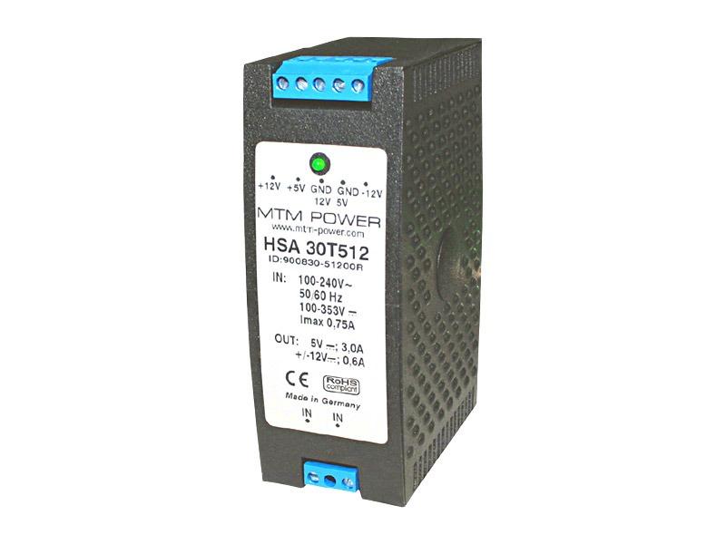 Fuentes para carril DIN Serie HSA (30W)