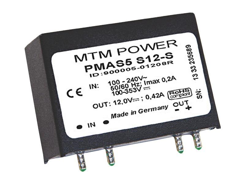 Fuentes PCB Serie PMAS vertical (5W)