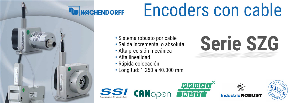 Encoders incrementales y absolutos Wachendorff